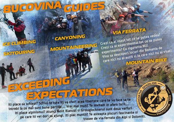 Cursuri gratuite de alpinism, schi şi rafting, oferite de Asociaţia Ghizilor din Bucovina